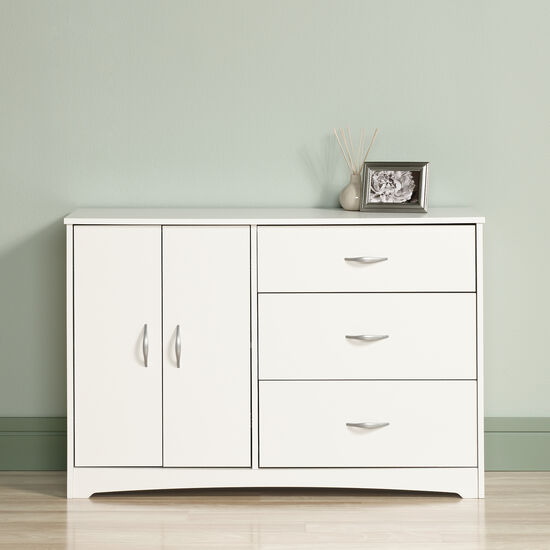 """30"""" Traditional Double Door Dresser in Soft White"""