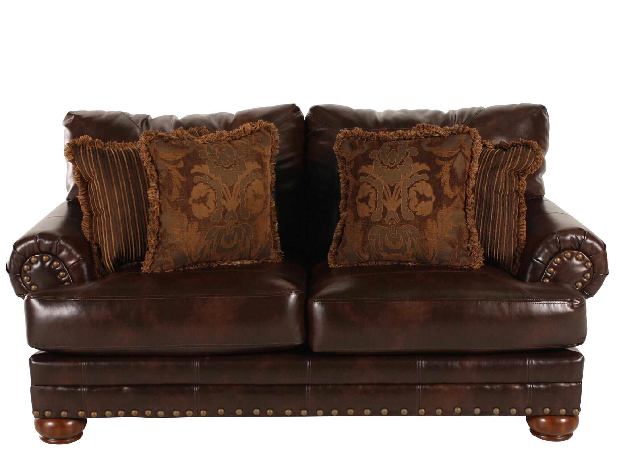 Ashley Millennium Performance Leather Antique Loveseat Part 60