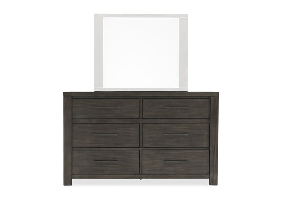 "39"" Weathered Six-Drawer Dresser in Dark Gray"