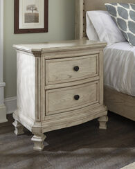 """29.5"""" Casual Two-Drawer Nightstandin Parchment White"""