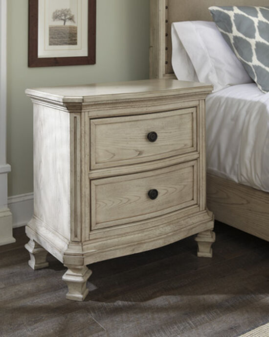 "29.5"" Casual Two-Drawer Nightstand in Parchment White"