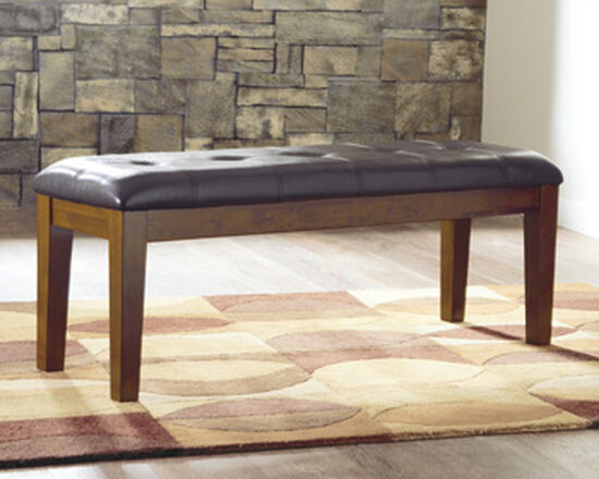 """Casual 49.75"""" Tufted Bench in Brown"""