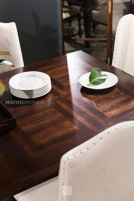 Seven-Piece Traditional Dining Set in Dark Sumatra