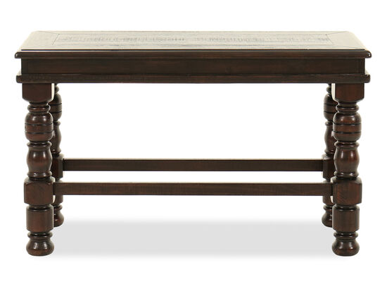 """Casual 40"""" Solid Pine Bench in Dark Brown"""