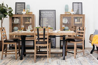 "Five-Piece Contemporary 36"" Pub Set in Light Oak"
