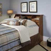MB Home Malibu Oiled Oak Full/Queen Bookcase Headboard