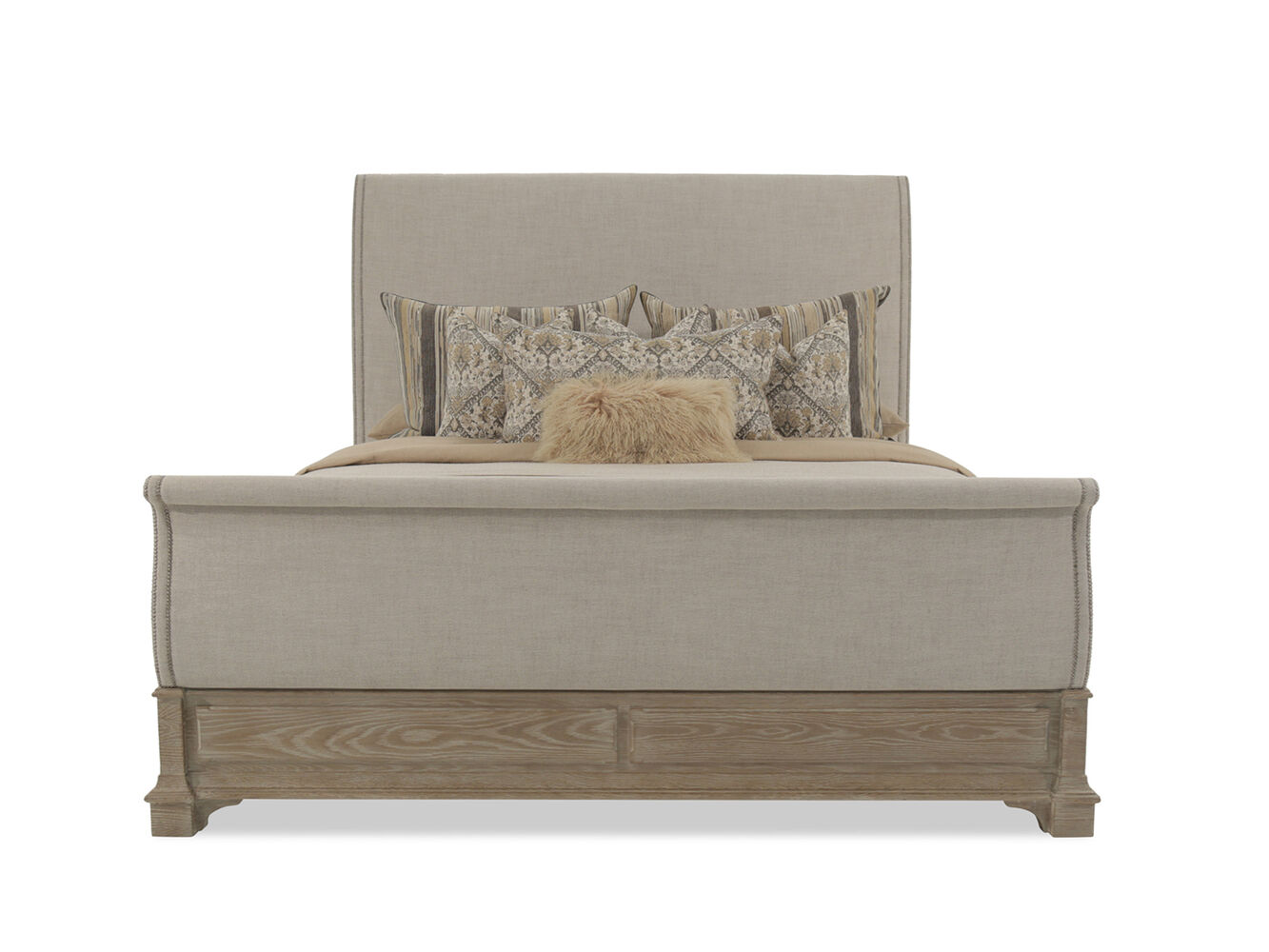 Bernhardt Antiquarian Wheat Sleigh Bed | Mathis Brothers Furniture