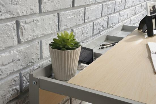 """35"""" Contemporary Desk in Urban Ash"""