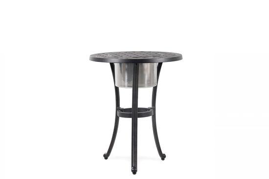 Lattice Patterned Aluminum Patio Ice Basket in Black