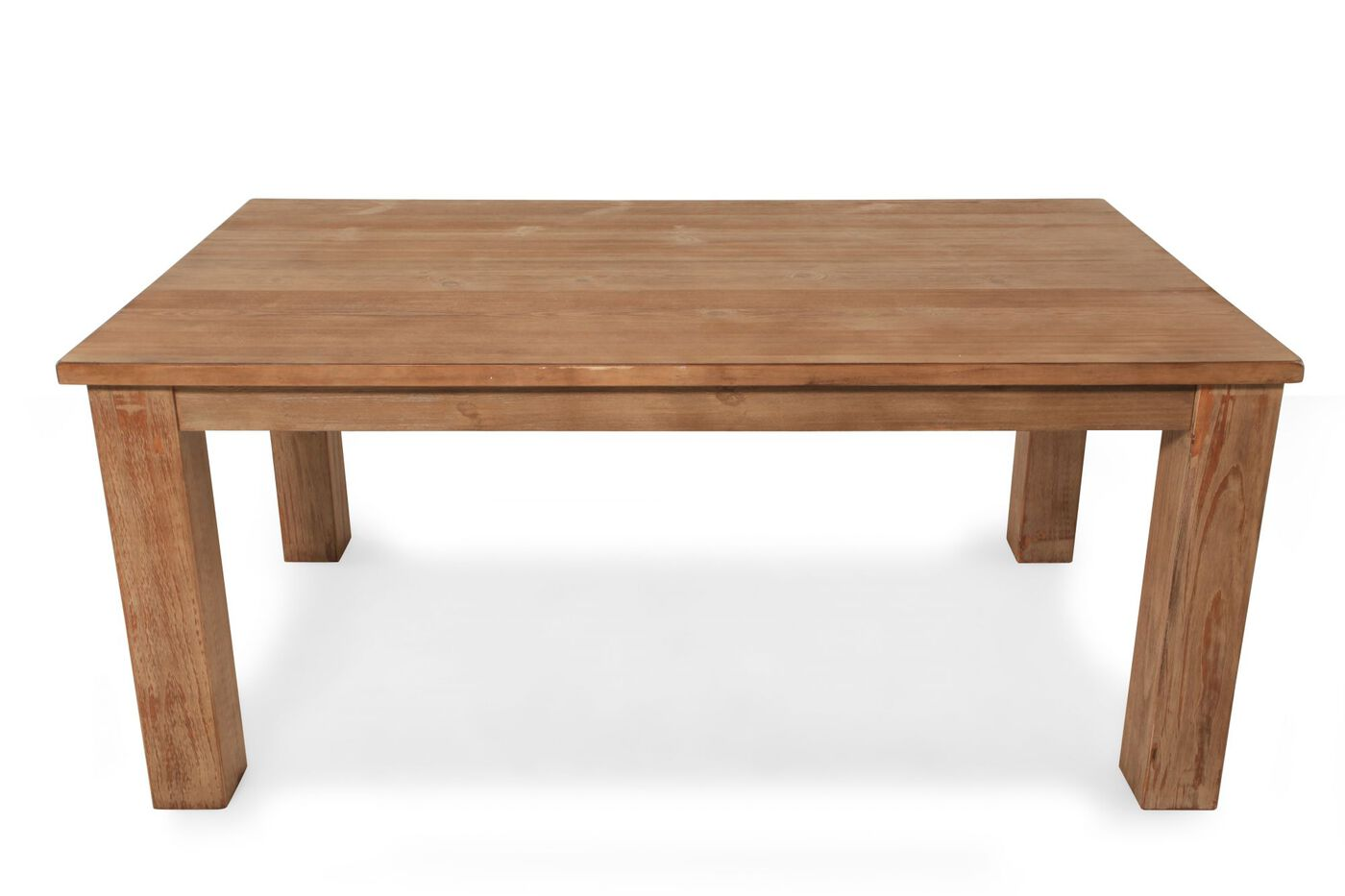 Casual 40 planked top dining table in light brown for Casual kitchen tables