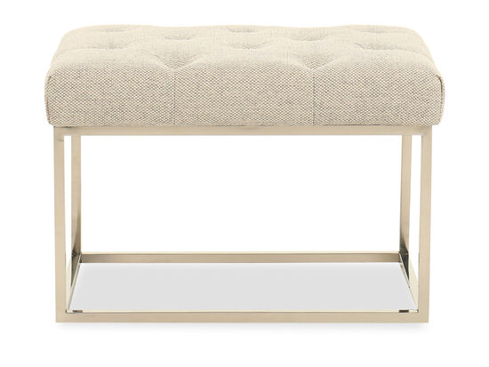 Button-Tufted Casual Bench in Gray