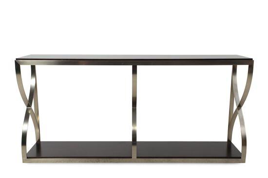 Serpentine Curves Metropolitan Console Table in Dark Sable