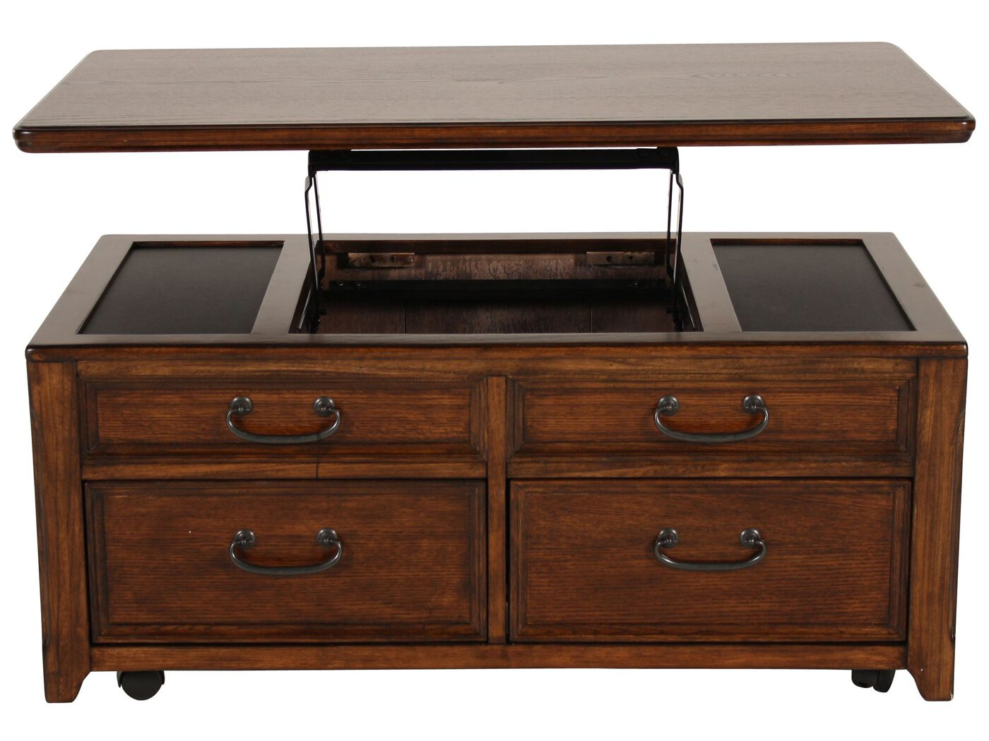 ashley woodboro lift top cocktail table | mathis brothers furniture