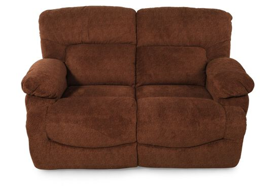 "Reclining Contemporary 65"" Loveseat in Caramel"
