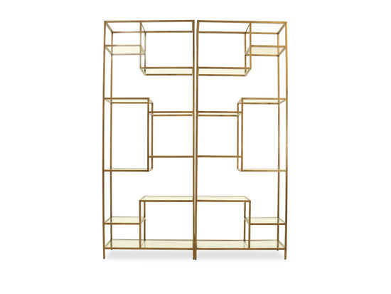 Contemporary Cabinet in Gold