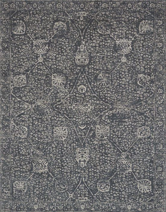"""Transitional 1'-6""""x1'-6"""" Square Rug in Charcoal/Charcoal"""