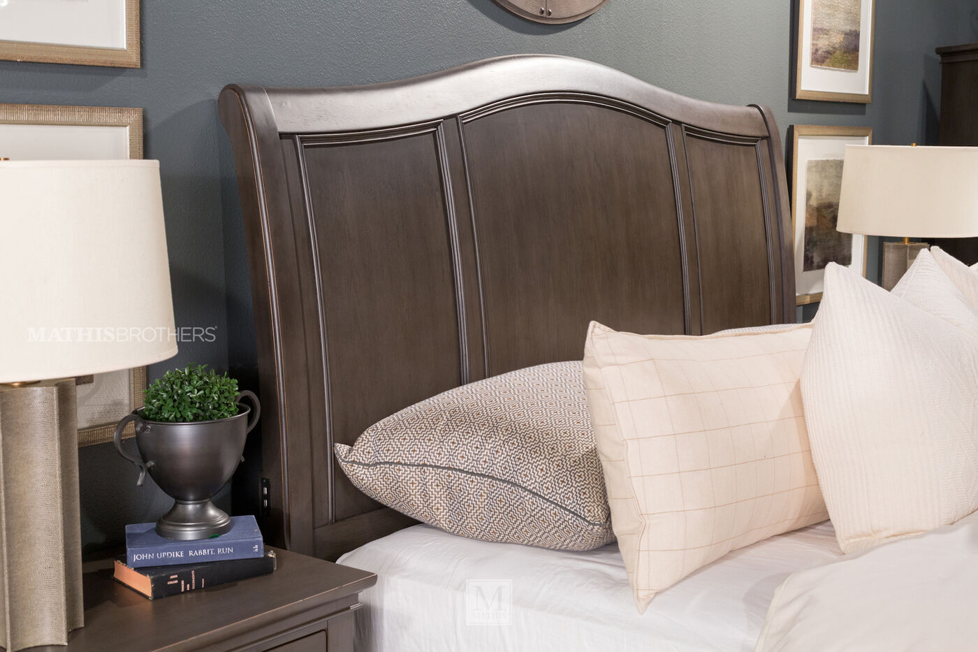 Three-Piece Transitional Storage Bedroom Set in Peppercorn   Mathis ...