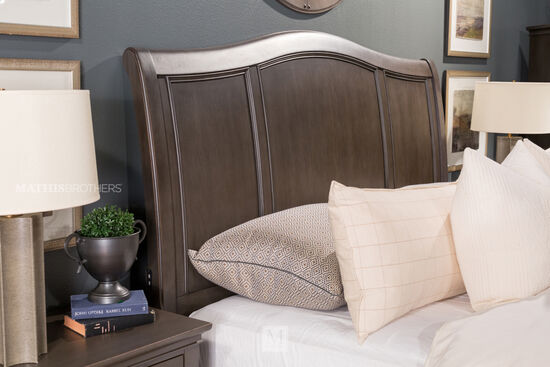 Transitional Paneled Storage Bed With Usb Charging Ports