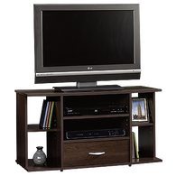 MB Home Genesis Cinnamon Cherry Panel TV Stand