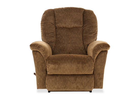 Chaise Seat Casual 40'' Rocker Recliner in Brown