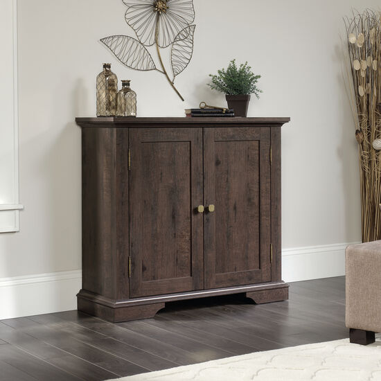 35.5'' Two-Door Contemporary Accent Storage Cabinet in Coffee Oak