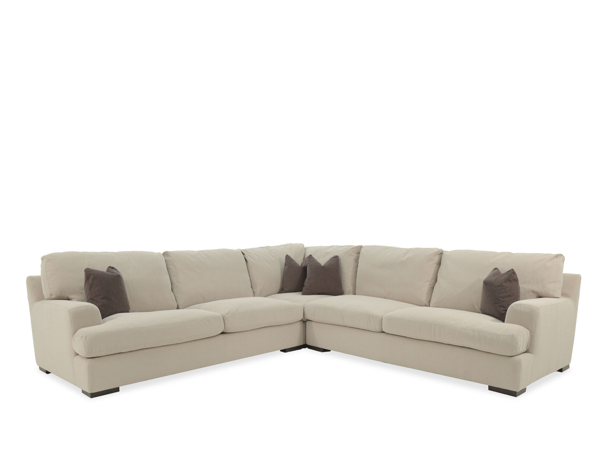 Boulevard Antique White Sectional Part 87