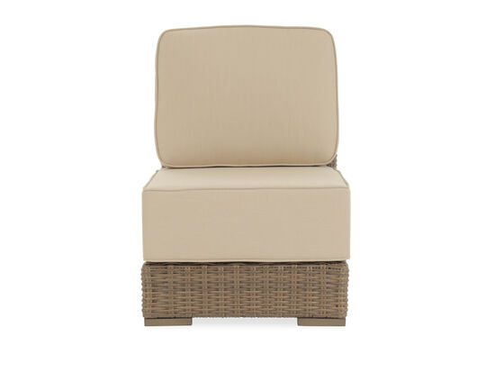 Contemporary Aluminum Armless Chair in Beige