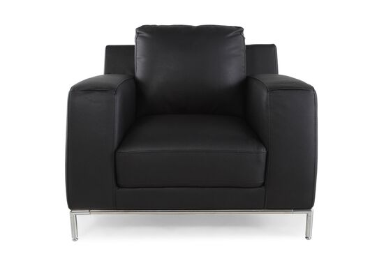 "Low-Profile Contemporary 40"" Chair in Ebony Black"