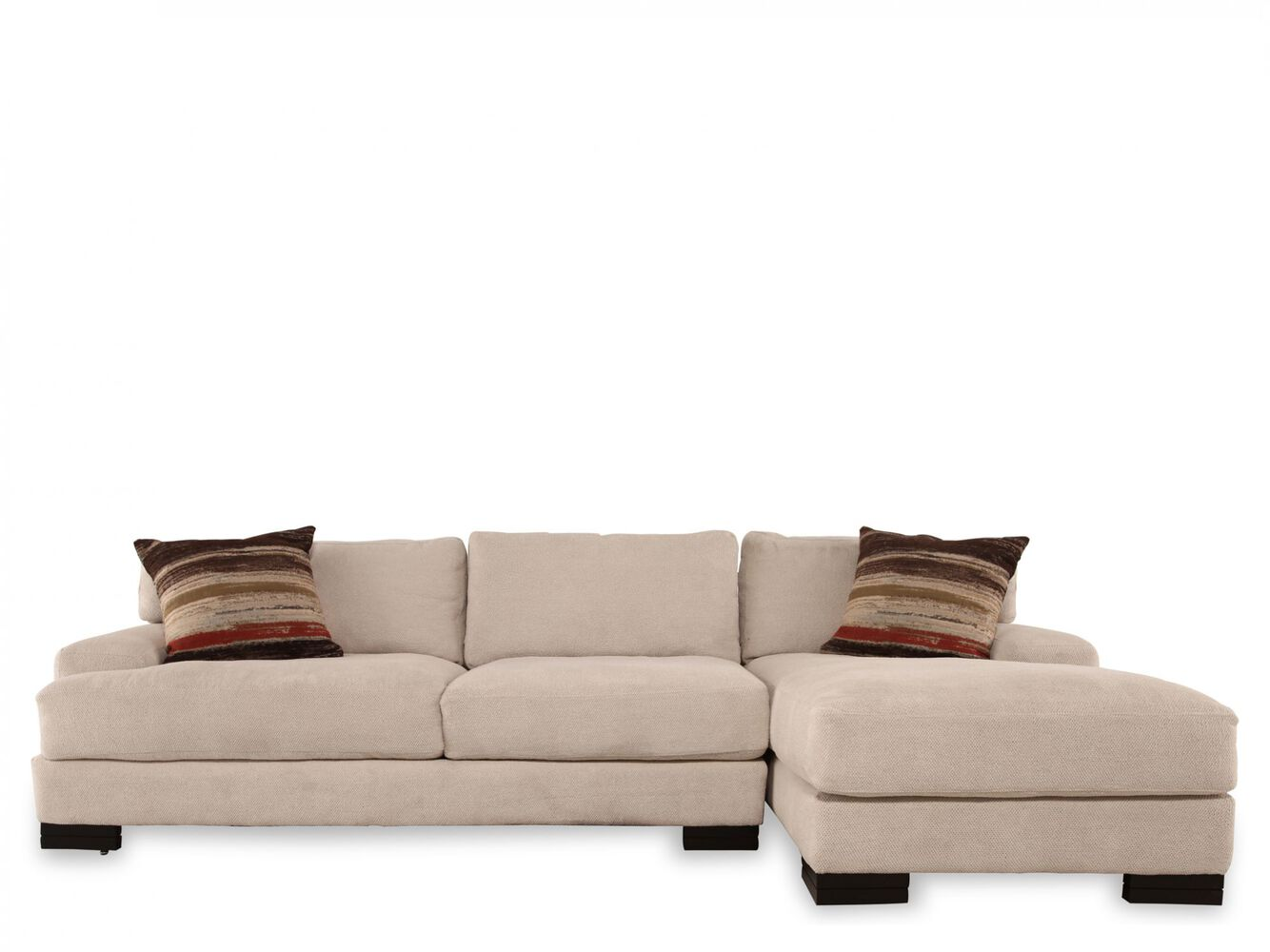 Jonathan Louis Burton Sofa With Chaise Mathis Brothers Furniture