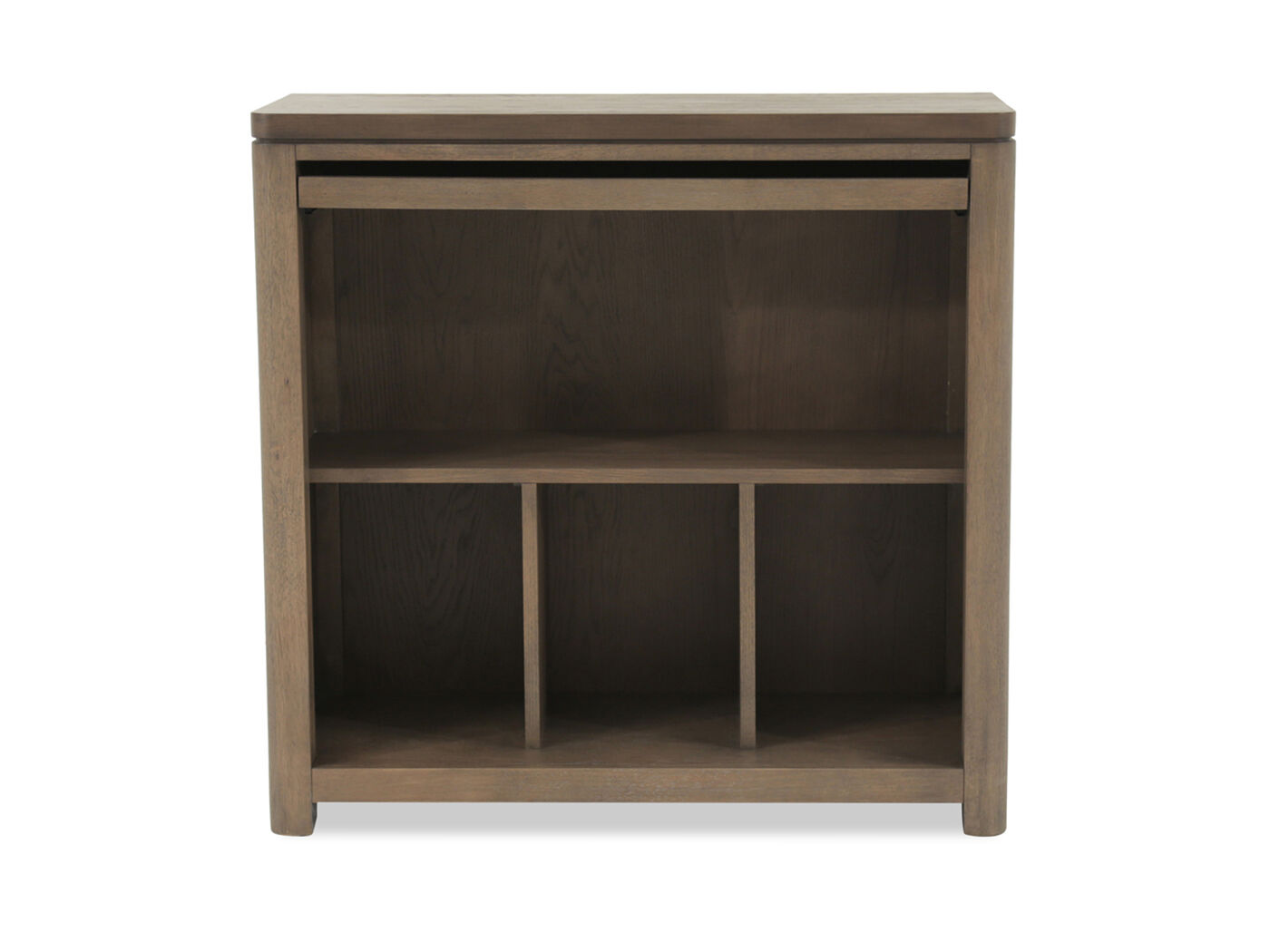 coastal high top desk in weathered oak mathis brothers furniture