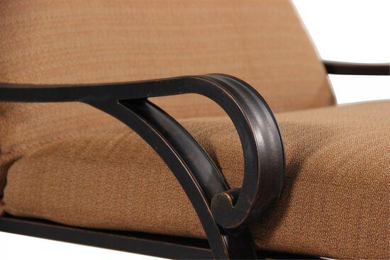 Button-Tufted Aluminum Chaise Loungein Brown