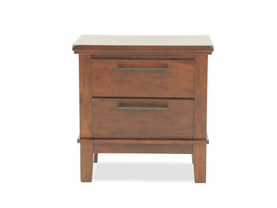 "29"" Contemporary Two-Drawer Nightstand in Dark Brown"