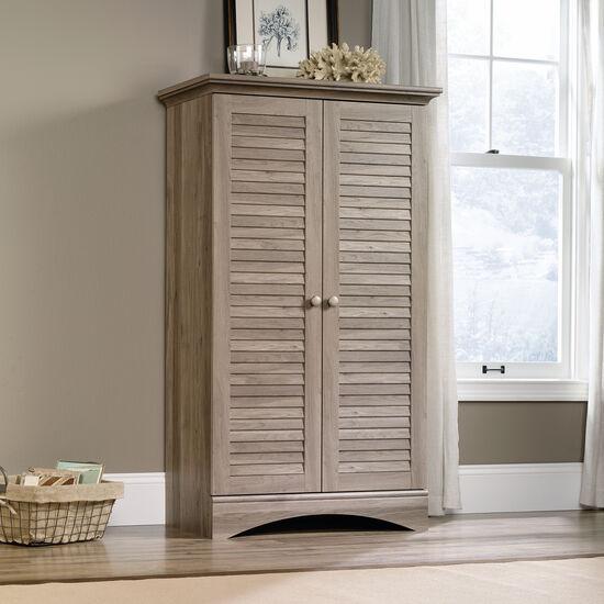 Two-Door Traditional Storage Cabinet in Salt Oak