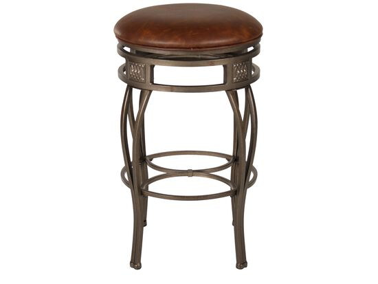 "Traditional 30"" Swivel Bar Stool in Old Steel"