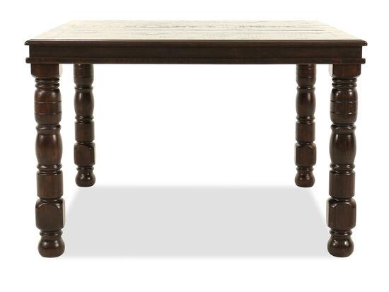 "Casual 52"" Solid Pine Counter Table in Espresso-Merlot"