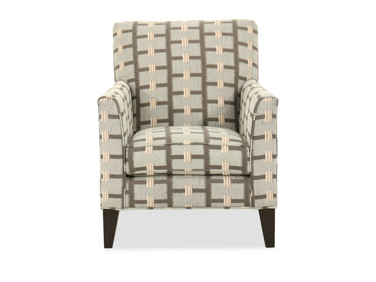 "Abstract-Printed Casual 31"" Accent Chair in Grey"