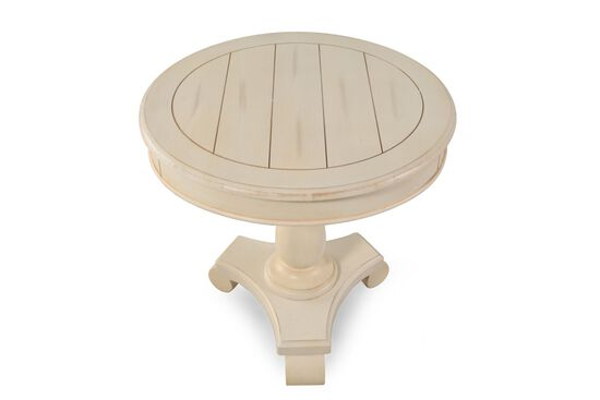 ashley vintage white round end table mathis brothers furniture. Black Bedroom Furniture Sets. Home Design Ideas