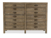 """45"""" Solid Pine Eight-Drawer Dresser in River Rock"""