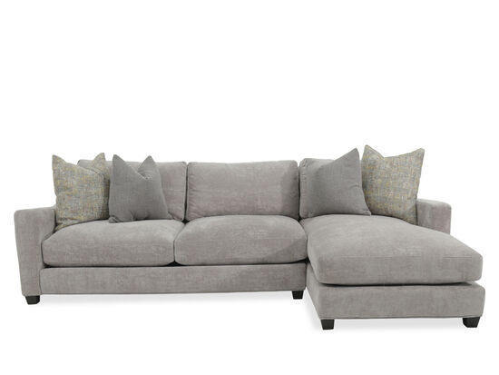 Two-Piece Casual Sectional in Heathered Gray