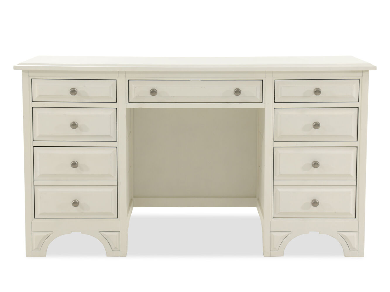 Images Seven Drawer Traditional Desk Nbsp In Vintage White