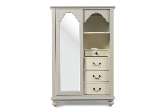Mirrored Country Dressing Chest in Morning Mist Gray