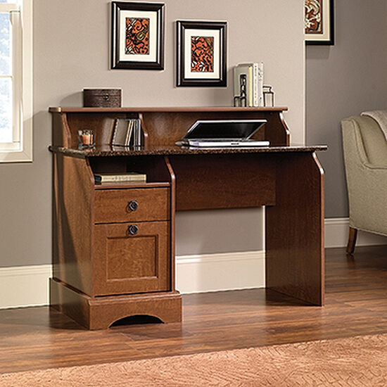 """47"""" Traditional Two-Drawer Desk in Autumn Maple"""