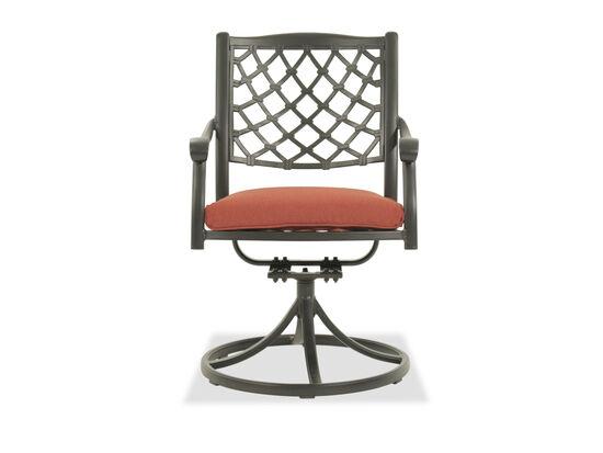 Lattice-Back Aluminum Swivel Chair in Black