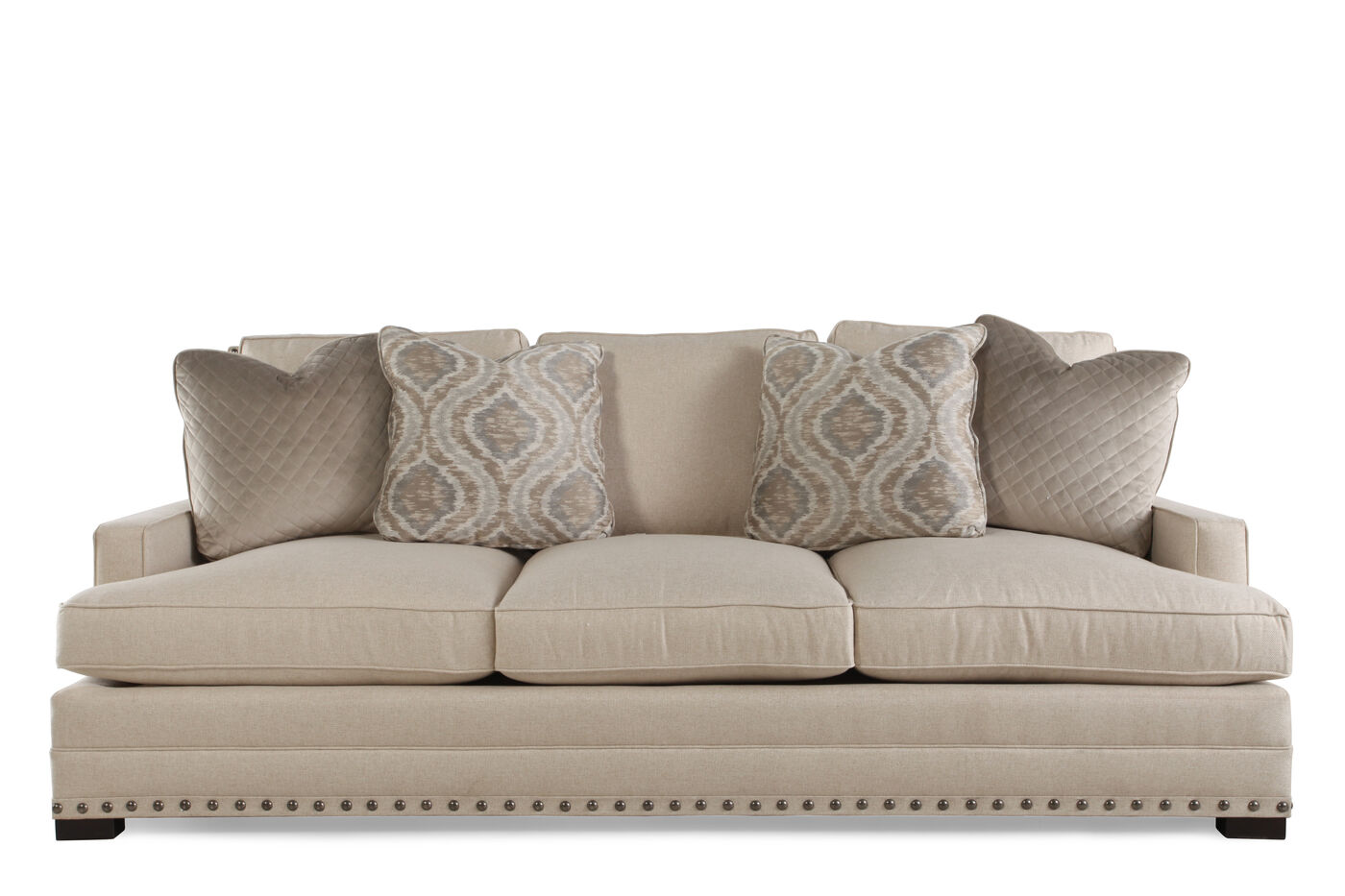 Traditional Low Profile 94 Quot Sofa In Beige Mathis Brothers Furniture