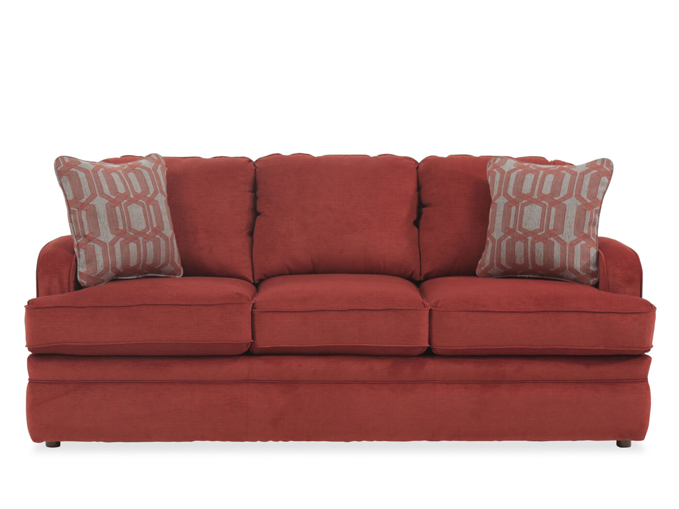 Traditional 77 Queen Sleeper Sofa In Crimson Mathis Brothers