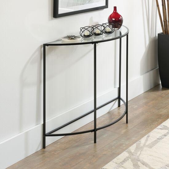 Arc-Shaped Modern Sofa Table in Black