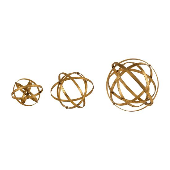Three-Piece Spheres in Gold Leaf