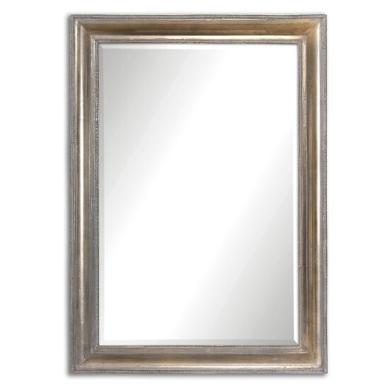 "34.5"" Sloped Profile Accent Mirror in Silver"