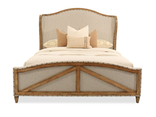Hooker Roslyn County Medium Pecan California King Deconstructed Upholstered Bed