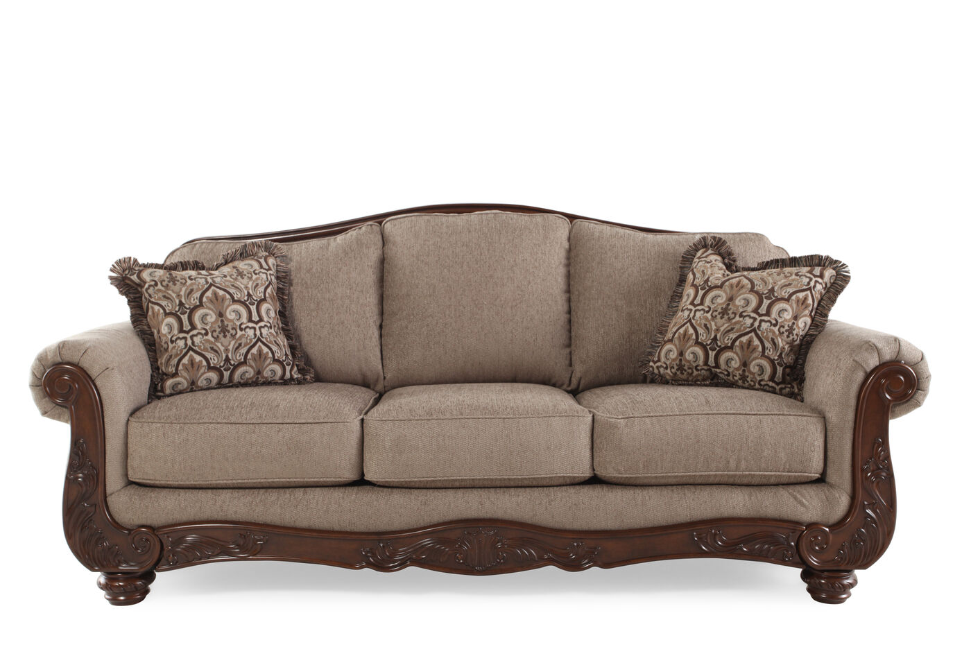 Traditional Rolled Arm Sofa Awesome Back Leather Ethan Allen Bennett Sleeper Sectional